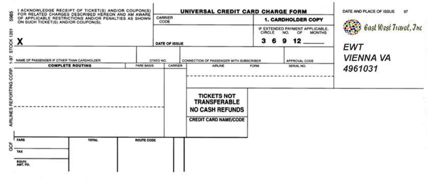 Credit Card Authorization Form - Cheap Tickets To India : Best